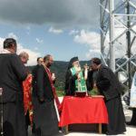 Осветување на Крст и манастирските конаци во манастирот Свети Архангел Михаил – Скочивир