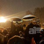 Митрополитите г. Петар и г. Агатангел се придружија на граѓанските протести за одбрана на Уставот на Р. Македонија